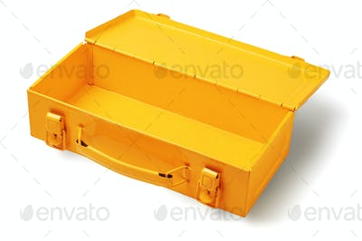 Empty Yellow Tool Box