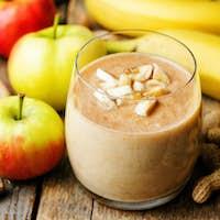 Apple banana peanut butter smoothie