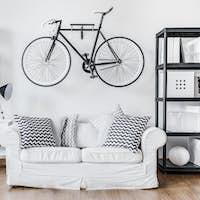 Black and white contemporary interior