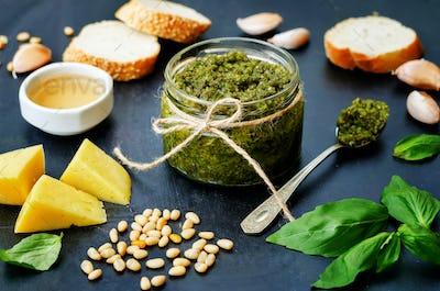 Pesto sauce and ingredient for pesto
