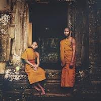 Monk Angkor Wat Religious Faith Concept