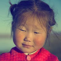 Cute Asian Girl Early Morning Facial Expression Concept
