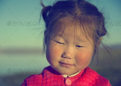 Cute Asian Girl Early Morning Facial Expression Concept