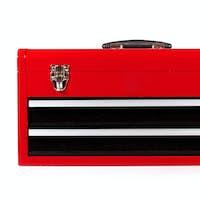 red metal toolbox