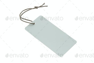 Blank light blue tag