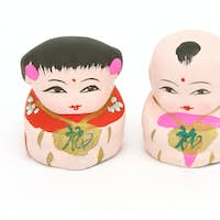 Chinese traditional boy and girl figurines