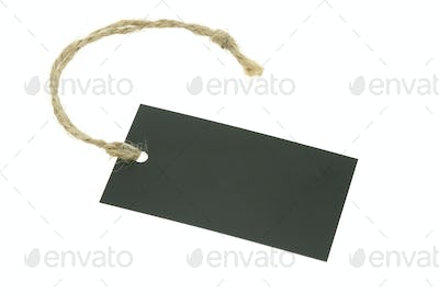 Blank paper label with raffia string