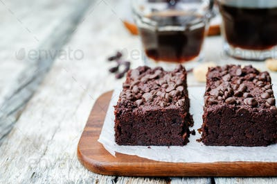 red beans chocolate chips brownie