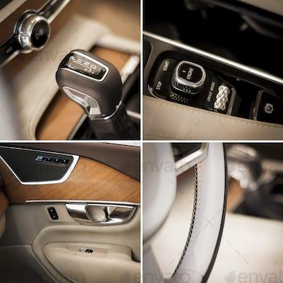 Car interior  collage