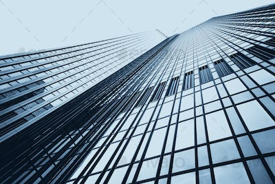 office buildings. Modern glass silhouettes on modern building.