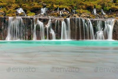 The beautiful Hraunfossar, Iceland