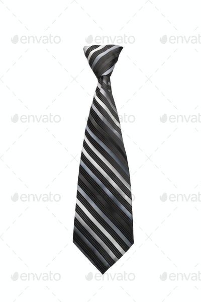 Necktie on white