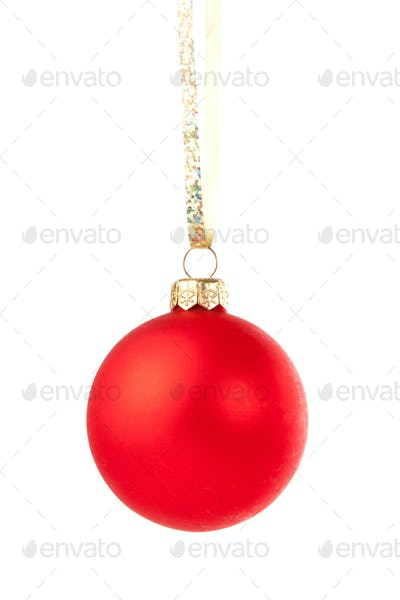 Hanging Christmas red bauble