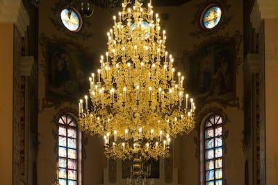 Chandelier in christian church
