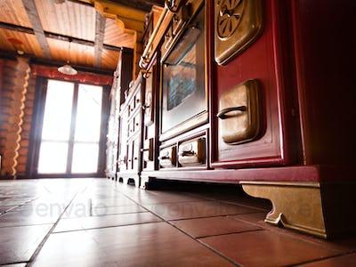 Interior of luxury vintage kitchen
