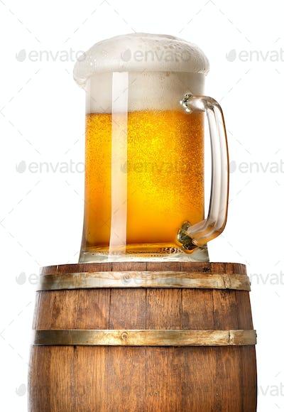 Light beer on cask
