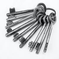 Old rusty bunch of keys