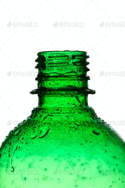 Water bottle isolated on white