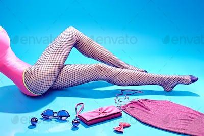 Fashion clothes stylish set,accessories woman legs