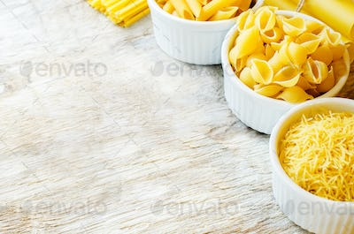 pasta in a white bowl