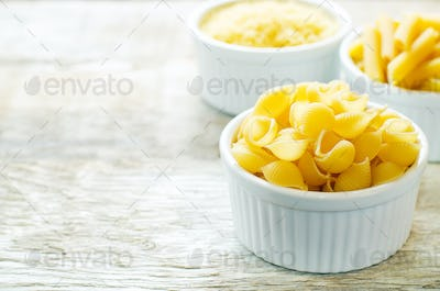 pasta Penne in a white bowl