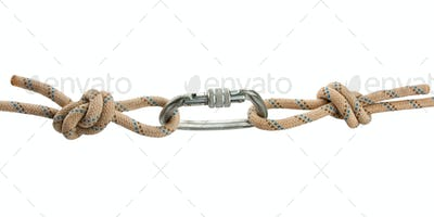 Climber's rope with carbine