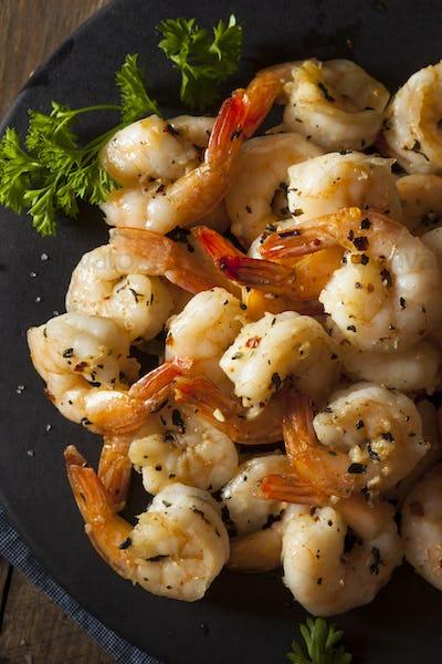 Homemade Sauteed Shrimp with Herbs