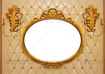 Luxury vintage mirror isolated inside