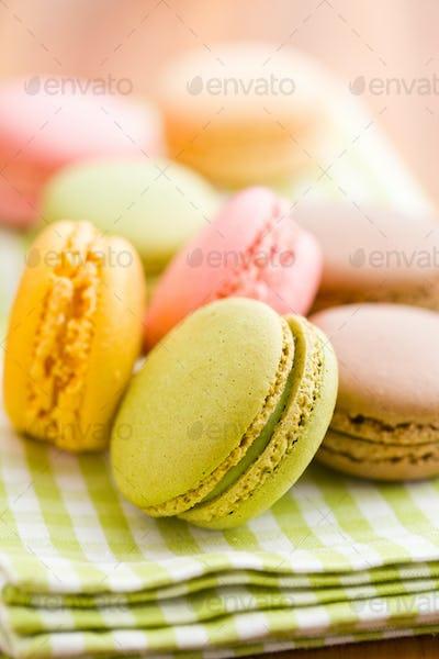 tasty colorful macarons