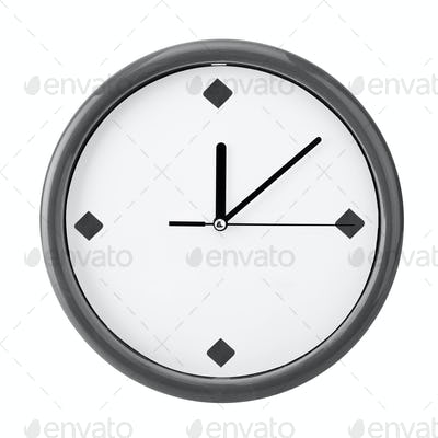 Close-up view of clock face