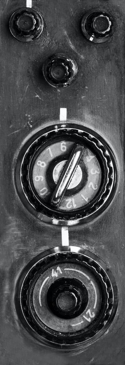 Vintage TV controls
