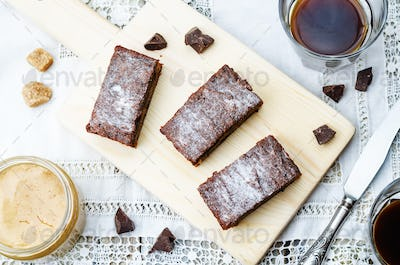 chocolate chips, peanut butter chocolate bars