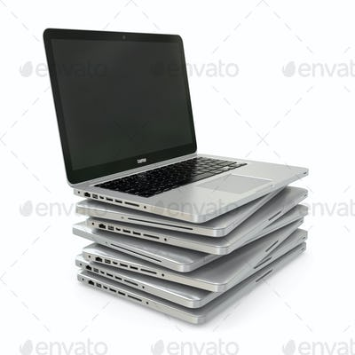 Stack of Laptop 3d