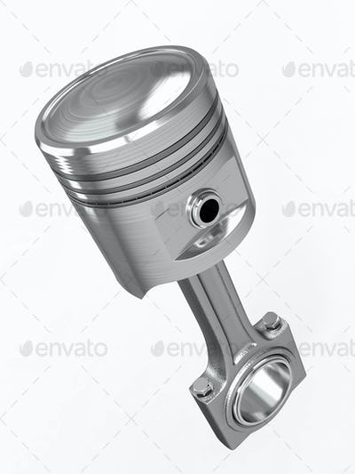 Piston and conrod. 3d