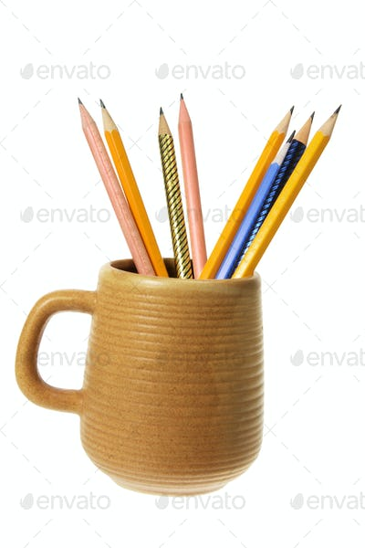 Coffee Mug with Pencils
