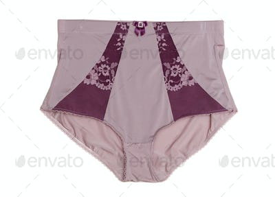 Purple Panties with lace inserts.