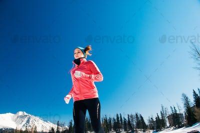 Young woman jogging