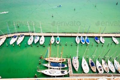 Sea bay with yachts