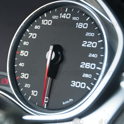 Car speedometer dashboard