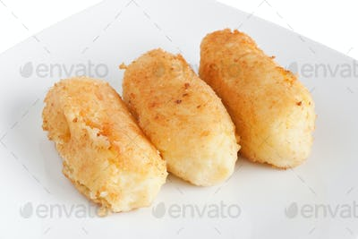 potato croquettes closeup