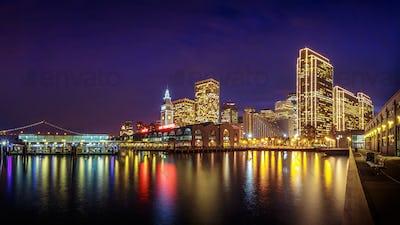 San Francisco Embarcadero at Night