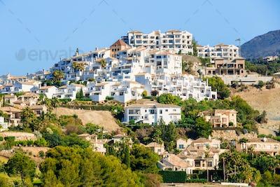 Village With White Houses In Benahavis, Malaga, Andalusia, Spain