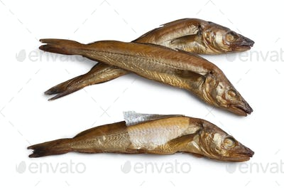 Fresh smoked whiting fish