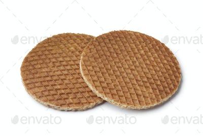 Fresh baked syrup waffles