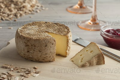 Tomme fumee, smoked cheese