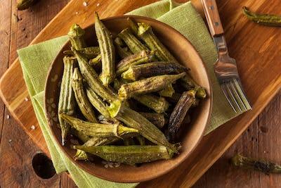 Green Organic Roasted Okra