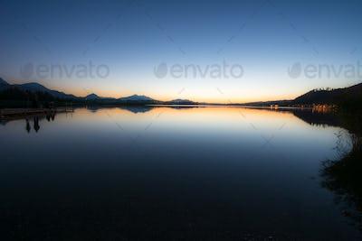 Sunset at Lake Hopfen