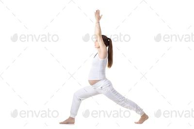 Prenatal Yoga, Warrior I pose