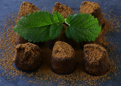 Chocolate Candy Truffle with Cocoa
