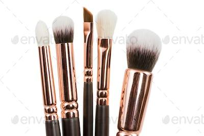Isolated make-up brushes